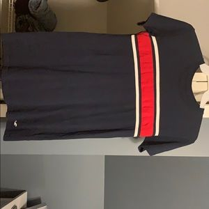 Hollister Blue White and Red T-Shirt Dress